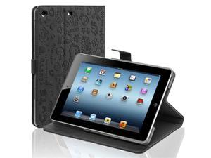 Black Cute PU Leather Case Cover W/ Stand For Apple iPad Mini 7.9'' Tablet