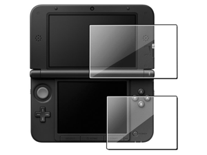 Clear Top+Bottom LCD Screen Protector Film Guard Shield For Nintendo 3DS XL