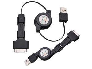 3 in 1 USB Retractable Charging Sync Cable For iPhone iPad iPod