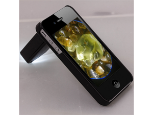 60-100X Zoom Magnification Microscope LED Magnifier W/ Adapter Cover For iPhone 4 4S 4th Gen