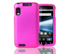 Pink Rubberized Hard Case Cover For Motorola Atrix 4G MB860