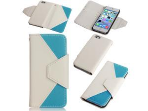 iPhone 5s/5 Wallet Case - Flip PU Leather Wallet Pouch Case Cover For Apple iPhone 5S 5 5G with Credit ID Card Holder Slots ...