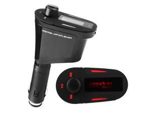 Car Kit MP3 Player Wireless FM Transmitter Modulator LCD USB SD MMC Red Light Remote