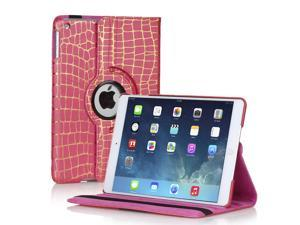 360 Degree Rotating PU Leather Stand Smart Case Cover For Apple iPad Mini & iPad Mini with Retina Display (Gold Stripe - ...