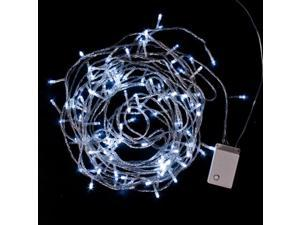 100 LED 10M 33Ft Fairy String Lights White 110V 8 Mode Function Controller For Outdoor Gardens Christmas Party Wedding Homes ...