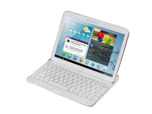 "Samsung Galaxy Tab 3 10.1 Keyboard Case - Ultra Thin Wireless Bluetooth Aluminum Keyboard Case Cover Stand For Samsung Galaxy Tab 3 10.1"" P5200 P5210 White"