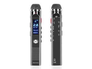 Digital Voice Recorder - Portable Audio Recorder 8GB Dictaphone MP3 Player Rechargeable with USB Port, Voice Activated, Noise Reduction Microphones for Recording Lecture, Interview and Meeting