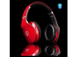 Wireless Fashion Hi-Fi Bluetooth Headphone w/ Touch Gesture Controls (Red)
