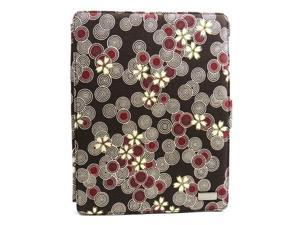 JAVOedge Cherry Blossom Axis 360 Rotating Smart Cover Case with Stand for the Apple iPad 3, iPad 4 (Cocoa)