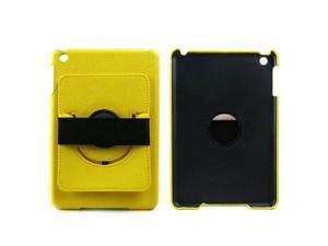 JAVOedge 360 Rotating Case with Stand and Hand Strap for the Apple iPad Mini, iPad Mini 2 with Retina (Yellow)