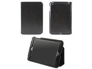 JAVOedge Debossed Floral Slim Stand Case for the Apple iPad Mini, iPad Mini 2 with Retina (Black)