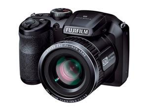 FUJIFILM FinePix S4800 16301535 Black 16.0 MP 30X Optical Zoom 24mm Wide Angle Digital Camera HDTV Output