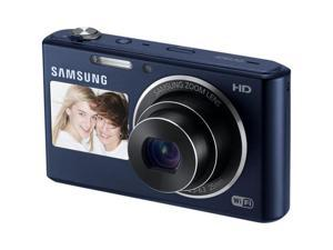 SAMSUNG DualView DV150F EC-DV150FBPBUS Cobalt Black 16.2MP Digital Camera HDTV Output