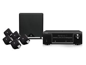 Denon AVR-E200 5.1 Channel Home Theater Bundle with Boston Acoustics SoundWare XS Speaker System Bundle (Black)