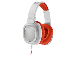 JBL J88 Premium Over-Ear Headphones (Orange and White)