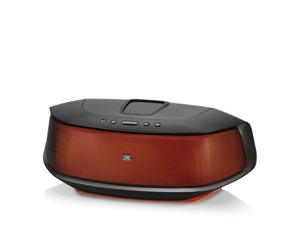 JBL OnBeat Rumble Wireless Speaker Dock with Built-In Subwoofer and Lightning Connecter (Orange)