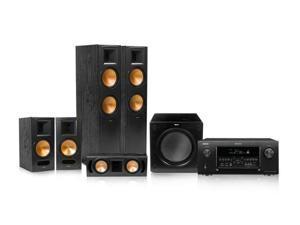 Denon AVR-4520CI Receiver bundle with Klipsch Reference 5.1 RF-82 II Speakers (Black)
