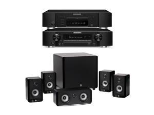 Marantz NR1504 Home Theater Bundle with 5.1 Ch Networking Receiver, UD5007 Blu-Ray Player and A2310HTS 5.1 Speaker Package ...