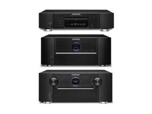Marantz AV7701 A/V Preamplifier, MM7055 5-Ch Power Amplifier,  and UD7007 3D Ready Universal Disc Player Bundle