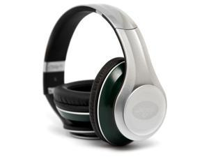 iHip NFH33NYJ NFL Elite Style Over-Ear Headphones with In-line Mic and Controls - New York Jets (Silver/Green)