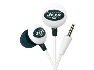 iHip NFL Officially Licensed Noise Isolating Mini Earbuds - New York Jets (White/Green)