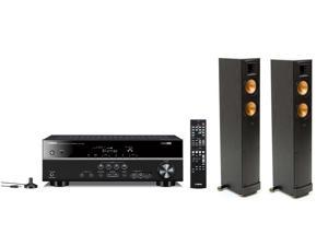 Klipsch RF-42 II Reference Floorstanding Speaker Pair with Yamaha 5.1 Channel 3D AV Receiver (Black)