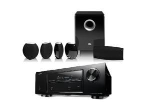 Denon AVR-E200 5.1 Channel Home Theater Bundle with JBL CS480 Speaker System (Black)