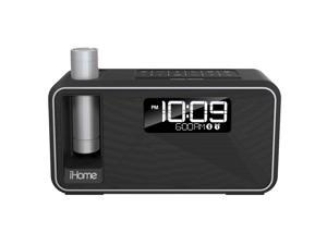 iHome iKN105 Kineta K2 Dual Charging Alarm Clock Radio With Bluetooth (Black)