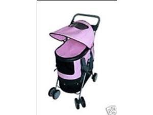 Pink Ultimate 4 In 1 Pet Stroller/Carrier/Car Seat