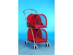 Red Double Deck Pet Stroller