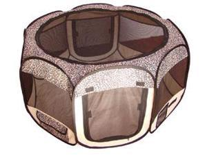 Leopard Skin Pet Dog Cat Tent Puppy Playpen Exercise Pen S