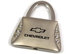 Chevrolet Logo Purse Keychain Chrome Key Fob Metal Keyring Chevy