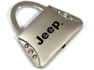 Jeep Keychain Name Logo Chrome Purse Crystal Metal Key Ring Lanyard mopar