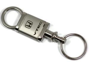 Honda VTEC Logo Laser Etch Valet Keychain Chrome Key Fob Metal Key Ring Lanyard KCV.VTE