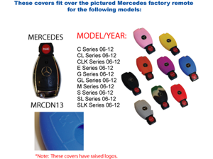 Red Silicone Key Fob Cover Case Smart Remote Pouches Protection Key Chain Fits: Mercedes Benz M Series 06-12
