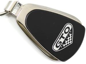 Pontiac GTO Black Teardrop Key Fob Authentic Logo Key Chain Key Ring Keychain Lanyard KCK.GTO
