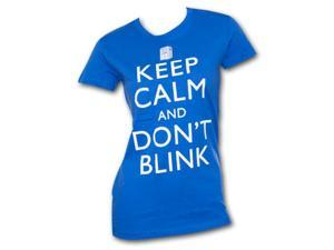 Dr. Who Keep Calm Juniors T Shirt Blue