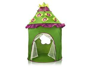 Kids Play Tent Green Chile Canopy Caste Play House Hut Indoor Outdoor New