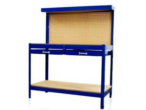 Work Bench Tool Storage With Drawers and Peg Board Solid Steel Construction