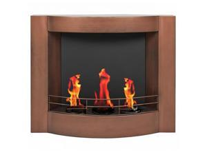 Fireplace Gel Fuel Wall Mount Fire Place Oil Rubbed Bronze Finish Jel Fuel new