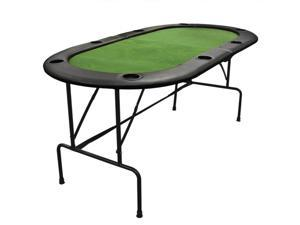 Poker Table Foldable 8 Player Casino Texas Holdem Poker Playing Table New