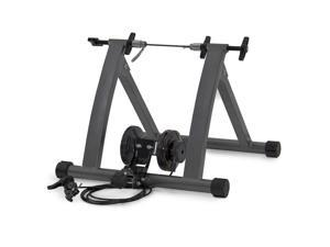 New Indoor Exercise Bike Bicycle Trainer Stand W/ 5 Levels Resistance Stationary