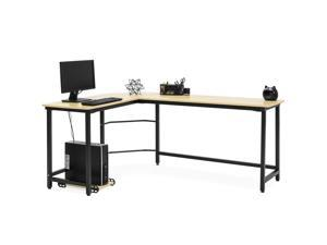 Best Choice Products Home Office Modern Wood And Metal Spacious L Shaped  Corner Computer Desk