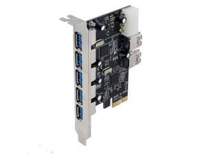 Sedna PCIE 7 Port USB 3.0 Adapter Card ( 5E2I)