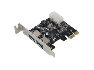 SEDNA - PCIE USB 3.0 2 Port Adapter with Low Profile Bracket - VL806 chipset - Support Win 8 UASP