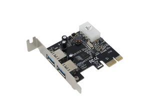 SEDNA - PCI Express 2 Port USB 3.0 Adapter - Low Profile - ( NEC / Renesas uPD720202 chipset )