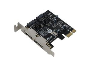 SEDNA - 2 Port PCIe SATA III 6.0 Gbps Low Profile Adapter Card with Hybrid Disk SDD accereration Software