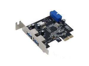 SEDNA - PCI Express USB 3.0 4 Port ( 2E + 2I ( 20 Pin ) )  Low Profile adapter card supports Win 8 UASP, with Floppy Power ...
