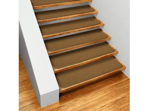 Set of 12 Skid-resistant Carpet Stair Treads - Bronze Gold - Several Other Sizes to Choose From