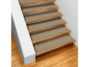 Set of 15 Skid-resistant Carpet Stair Treads - Camel Tan - Several Other Sizes to Choose From